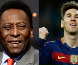 Pelé, Messi (Fotos: Twitter)
