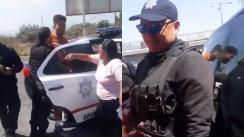 Policía manda a mujer Lavar trastes Edoméx