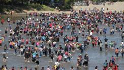 caravana migrantes centroamericanos río suchiate