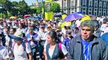Trabajadores del Sector Salud exigen mejoras laborales, en Toluca