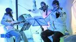 Orquesta hielo concierto iglú Los Alpes Italia