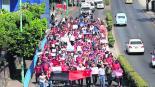Fiscalía General de Justicia marchan hasta el centro policías les adeudan desde 2018