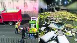 camión de redilas volcadura transportaba guayabas accidente exceso de velocidad paseo Tollocan Toluca edomex