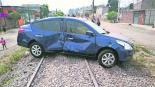 Chalco Vía de tren Tren en marcha Ferrosur Familia escapa