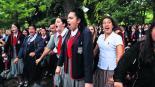 Estudiantes Danza maorí Danza de Guerra Homenaje Atentado Nueva Zelanda