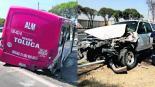 choque camioneta contra autobús lesionados palmillas