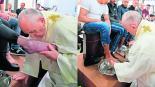 Papa Francisco le lava los pies a 12 prisioneros