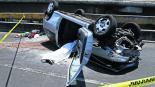 Automovilista se vuelca Muere conductor Carrera de automóviles CDMX