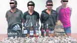 Detienen a cuatro sujetos molotov mariguana