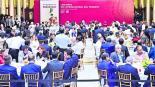 Líderes sindicales se reúnen Palacio Nacional