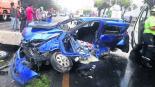 automovilista muere prensado choque derrapa carretera toluca palmillas