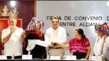 alejandro encinas firman pacto de no agresión Aldama Chenalhó Chiapas