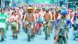 14 edición World Naked Bike Ride Pedalear sin ropa
