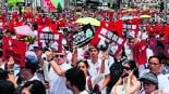 manifestación en contra leyes nuevas extradición marcha hong kong china