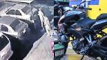 Morelos Dos sujetos roban motocicleta