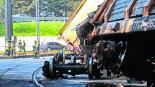 Tren volcado Testimonio de volcadura Toluca