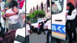 mujer policía tránsito agrede estudiante chava secundaria pelea graban video Zacatepec