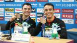 Yahel Castillo y Juan Celaya se cuelgan medalla de bronce en los Mundiales de Natación