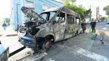 Grupos criminales incendian unidades de transporte público en Edomex y GAM
