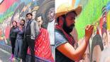 Ayuntamiento de Toluca paga con agua y dulces a muralistas de identidad indígena