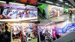 Guerrero la estación del Metro capitalino forrada de leyendas de la lucha libre mexicana