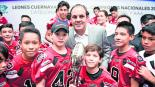 Premian a los Leones de Cuernavaca tras coronarse campeones en la ONEFA 2019