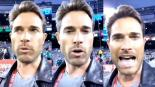 Usuarios de redes sociales se burlan de Sebastián Rulli tras hacer el oso en estadio