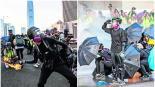violencia manifestantes policías inconformes hong kong china