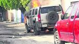 balean incendian hummer camioneta abandonada puente de ixtla