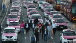 bloqueo taxistas protesta cdmx cierres viales uber cabify
