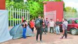 opositores guardia nacional acampan afuera parque San José La Pilita metepec