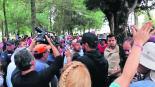 Opositores Parque La Pila policías