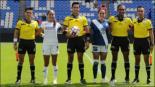 Las jugadoras previo al duelo de la Liga MX Femenil