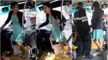 video viral ladies #LadyTacones Lady Tacones pelea camión autobús pasajeros tacones quería bajar por adelante chofer policía tlalpan