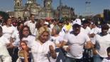 sonideros bailan se manifiestan exigen gobernación claudia sheinbaum permisos para trabajar calles cdmx