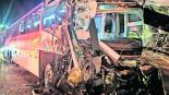 choque camión pasajeros grúa lesionados lerma méxico-toluca