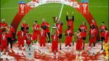 Así festejan campeonato en Austria en época de Covid-19