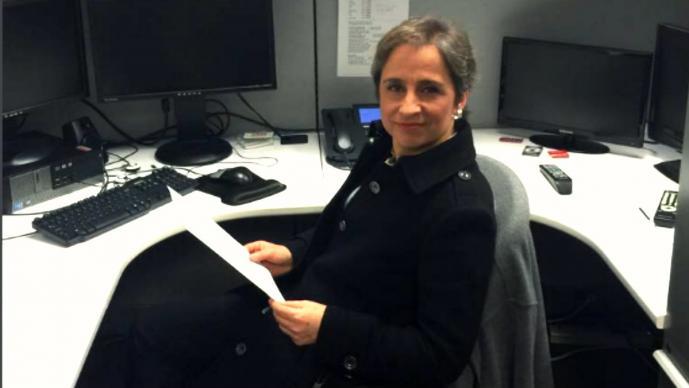 Roban computadora a Carmen Aristegui