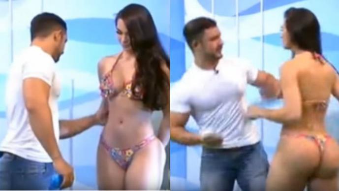 Polémica por video en el que presentador toca indebidamente a modelo — MÉXICO