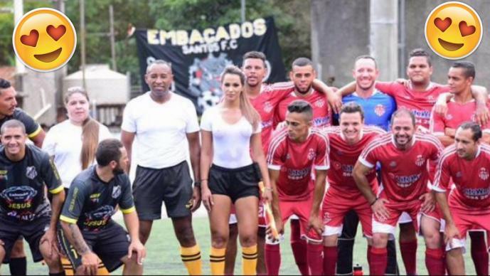 Una jueza de línea provoca revuelo en el fútbol brasileño