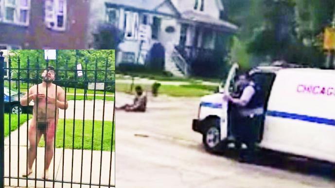 Hombre desnudo drogado es golpeado varias veces con una pistola Taser