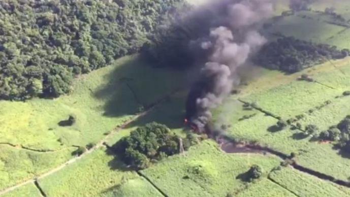 Gran explosión en un gasoducto de Pemex en México