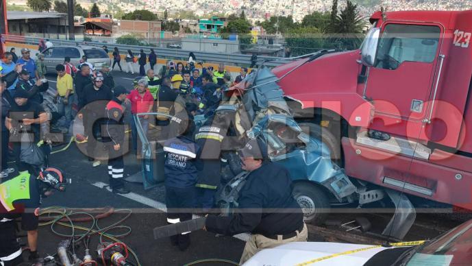 Carambola en la México-Pachuca deja 1 muerto y varios lesionados