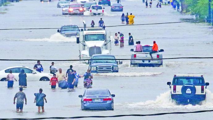 Las impresionantes imágenes de los estragos que dejó el huracán Harvey