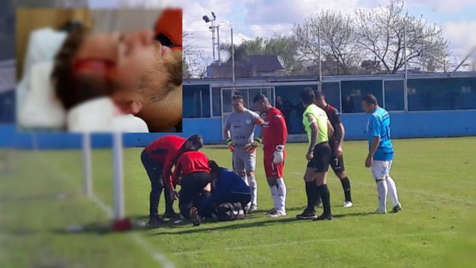 El impresionante golpe que recibió Francisco Vazzoler, jugador de Defensores de Belgrano