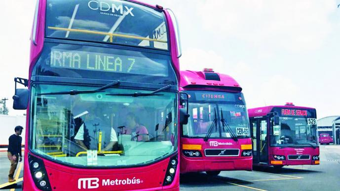 Listas unidades de la línea 7 del Metrobús