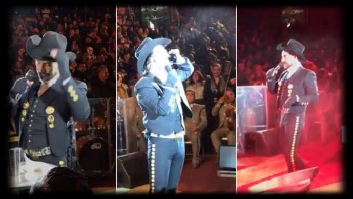 [Video] ¿Otra vez? El Potrillo termina 'hasta las chanclas' en pleno concierto