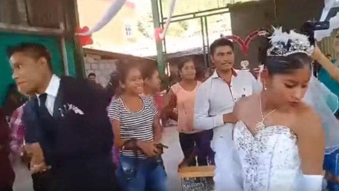 Se viraliza video de 'la boda más triste de México'
