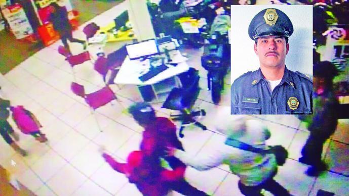 Pierde la vida policía que frustró asalto en tienda de electrodomésticos