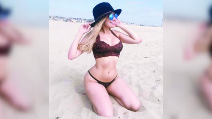 With myrka dellanos bikini